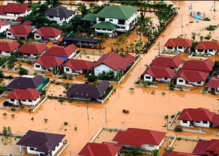 Whole villages submerged